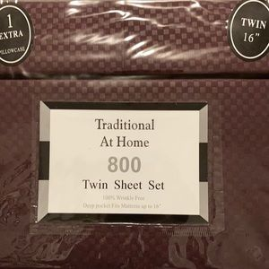 Traditional At Home 4pc Twin Sheet Set Plum purple